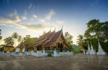 Wat Xieng Thong (Golden City Temple) in Luang Prabang, Laos. Xie