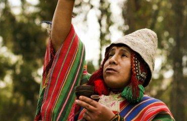 Schamane in Machu Picchu Fotolia